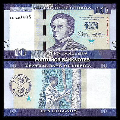 - p31 p32 and p31 2016 10 /& 20 Dollars Liberia 3 Note Set: 5