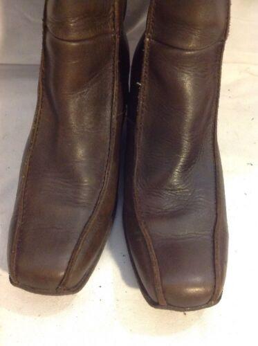 taille New cuir en marron 4 Bottines Look FwZXqBBt