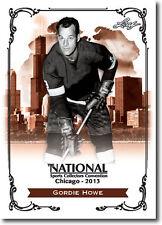 100) GORDIE HOWE - Mr. Hockey - 2013 Leaf Convention PROMOTIONAL Hockey Card LOT