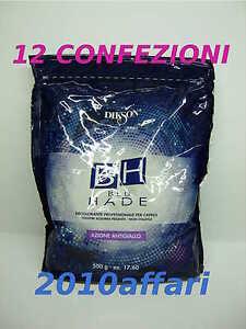 BH BLU HADE DIKSON DECOLORANTE PER CAPELLI - ANTIGIALLO - 12 BUSTE da 500 G - Italia - BH BLU HADE DIKSON DECOLORANTE PER CAPELLI - ANTIGIALLO - 12 BUSTE da 500 G - Italia