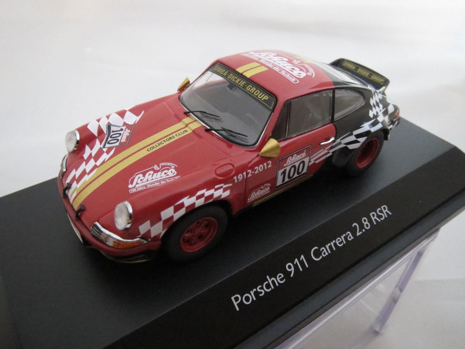Schuco Porsche 911 carrera 2.8 rsr-Exclusives club modelo 2012, en 1 43-ovp-top