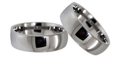Matching Ring Set - 8mm Classic Domed Tungsten His & Her Rings Sizes 4-16