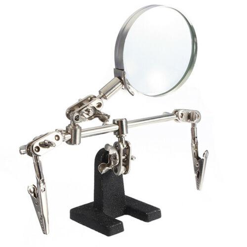 Soudure Plate-Forme 5X Jewelries Confectionner Loupe LED Clips 360° Réglable