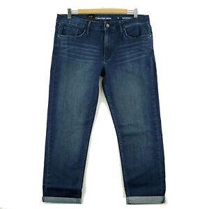 Calvin-Klein-Women-039-s-Slim-Boyfriend-Jeans-Size-12-Inkwell