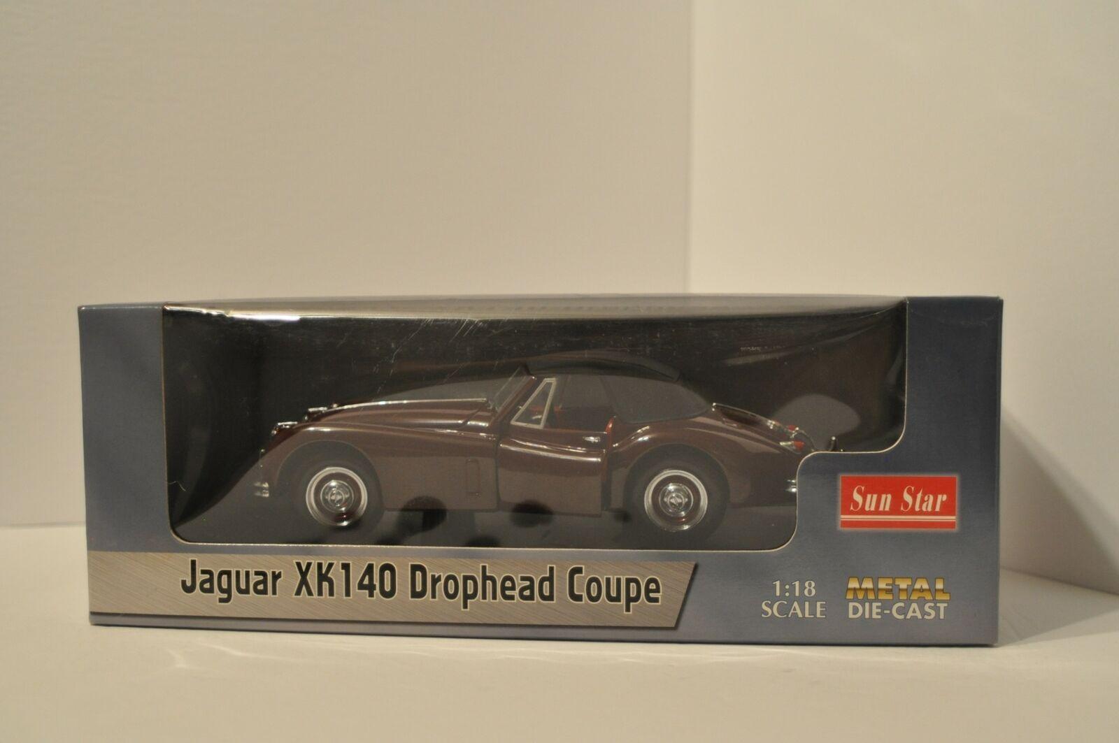 Jaguar XK140 Drophead Coupe 1 18 Diecast Sun stjärna 150