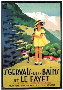 Postcard Ads Advertising P. L. M.Saint Gervais The Bath Edit Clouet T14