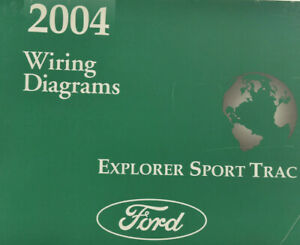 2004 Ford Explorer Sport Trac Wiring Diagrams Original Oem Shop Manual Ebay