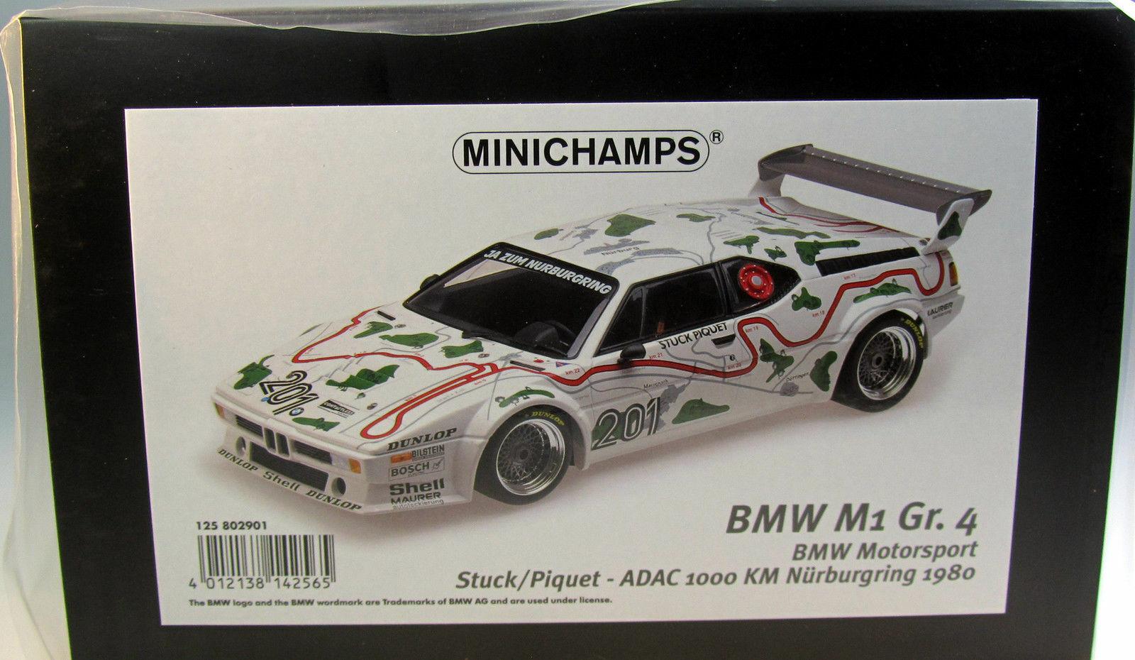Model 1 12 BMW M1 E26 Gr.4 1000 km Nürnburgring Piece Piquet 1980 Minichamps