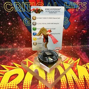 low priced 2ad94 8be7b Image is loading Marvel-Heroclix-KING-HYPERION-041A-Invincible-Iron-Man-
