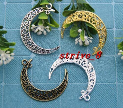 5//20//100pcs Tibet Silver Beautiful Moon Jewelry Finding Charm pendant 41x30mm