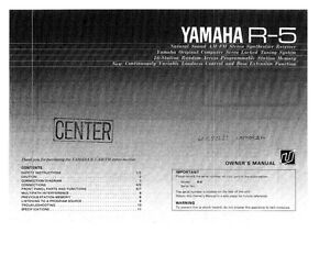 yamaha r 5 receiver owners manual. Black Bedroom Furniture Sets. Home Design Ideas