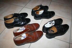LOT 4 paires de  Chaussures  homme de ville  pointure 44  TBE