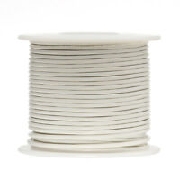 24 Awg Gauge Stranded Hook Up Wire White 500 Ft 0.0201 Ul1007 300 Volts