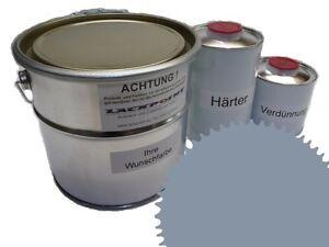 1,5 Liter Set 2K Floor Coating Ral 7001 Grey Shine Floor Color Workshop
