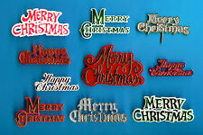 10 Assortiti Buon Natale/Buon Natale Motto Torta Decorazioni