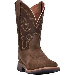 Dan-Post-Davis-DP4551-Mens-Brown-Leather-Square-Toe-Western-Boots