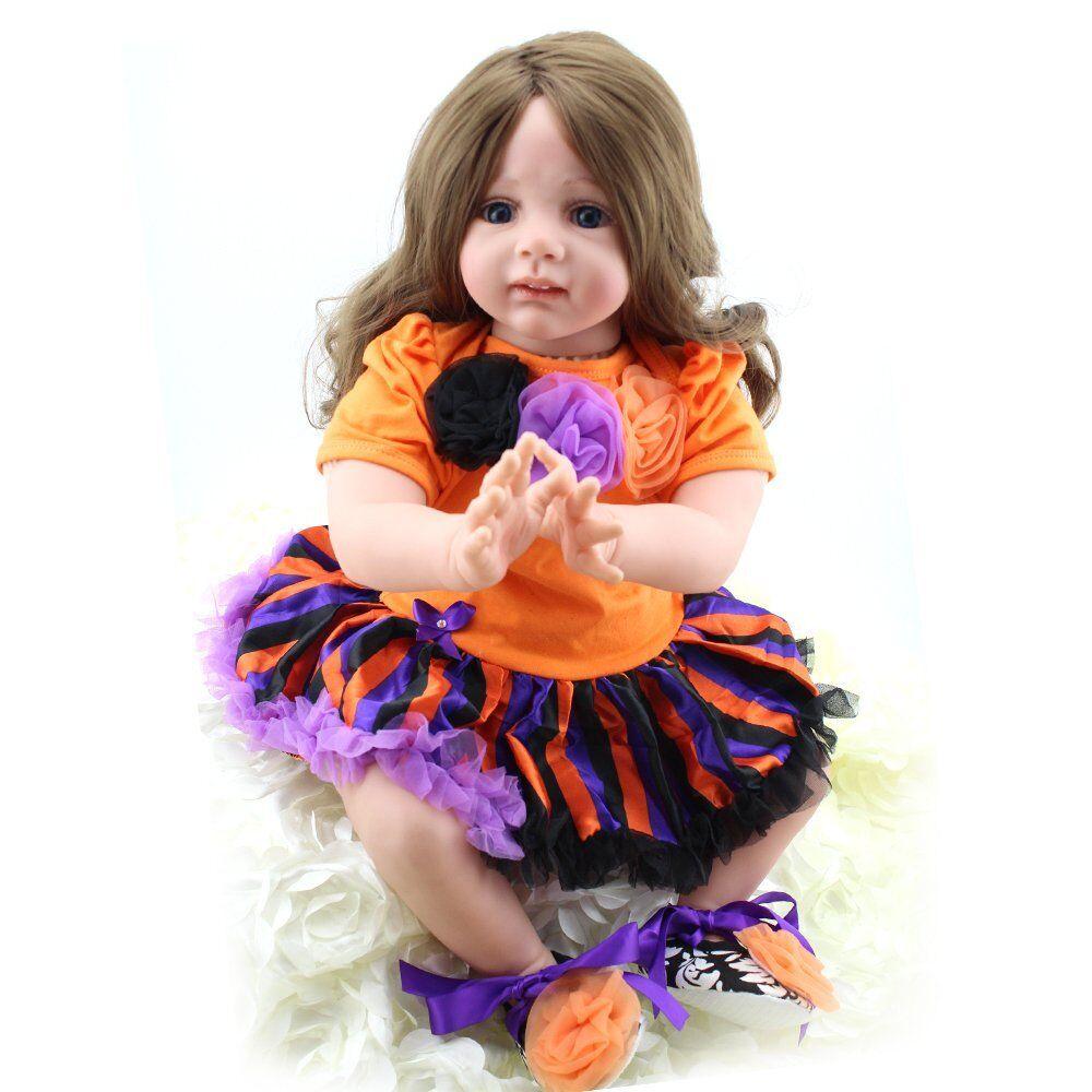 Realistico Bambole Bambino Ragazza Viva vinile in silicone RINATO Baby accompagnare Bambini Giocattolo