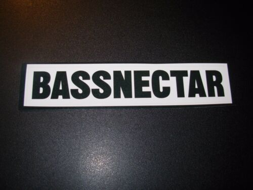 "BASSNECTAR bassdrop White Black 5.5/"" bannner LOGO Sticker decal New bass nectar"