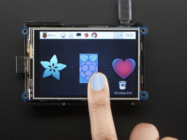 """Adafruit PiTFT 480x320 3.5"""" TFT+Touchscreen LCD Display Raspberry Pi 3 B/2 B/B+"""