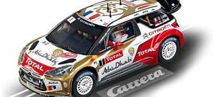 Kinderrennbahnen Carrera Citroen Ds3 Mrc Total Abu Dhabi Nummer Spielzeug N°1 Neu 1/32 Ref 27460