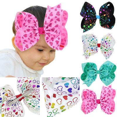 2PCS Kids Baby Girls Glitter Shiny Sequin Heart Shaped Cute Hair Clip Hairpins