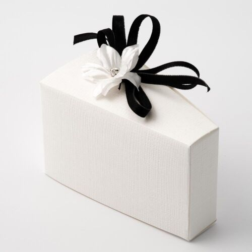 WHITE SILK TEXTURED LARGE WEDDING CAKE BOX DIY FAVOUR
