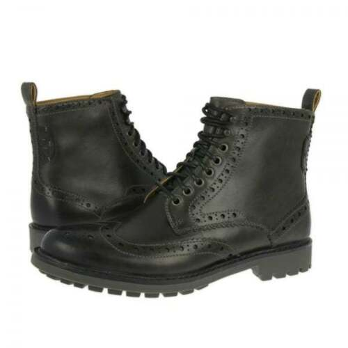 Montacute Clarks Gris Lea 9 12 Zapato Oxford 6 Elegante Carbón Gb Hombre Lord 8 EqEcAwfg