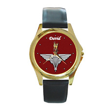 PARACHUTE REGIMENT PARAS BADGE CREST CUSTOMISED WRISTWATCH **CHOOSE ANY NAME***