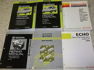 2004-Toyota-Echo-Servicio-Reparacion-Tienda-Taller-Manual-Juego-OEM-Fabrica-Etm