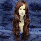 Fabulous Auburn Chestnut Brown Long Wavy Ladies Wigs Heat Resistant WIWIGS UK