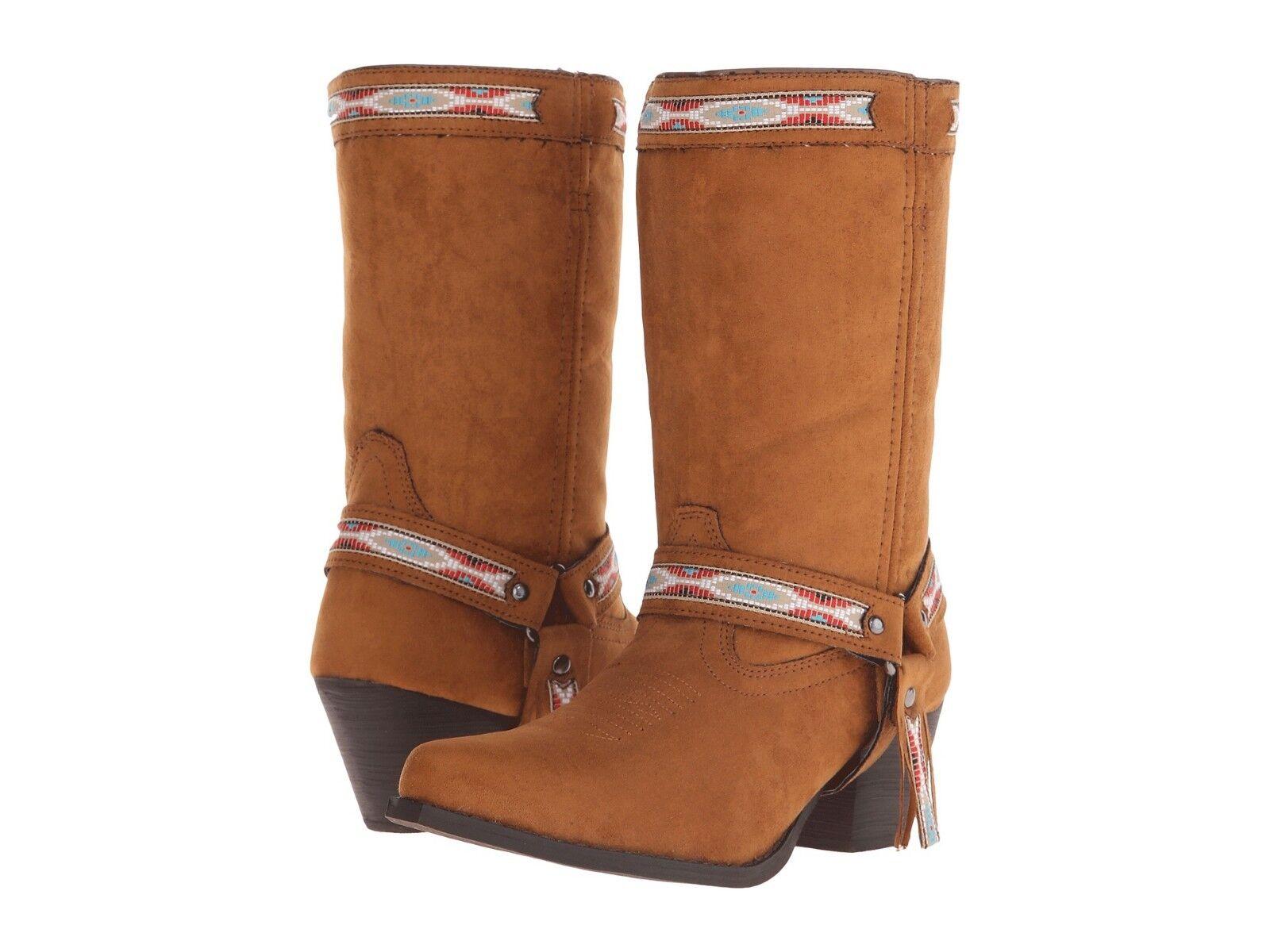 Dingo Womens Cowboy Boot Embroidery Martine Rust Brown Copper 7 Medium NEW NIB