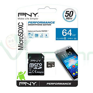 Scheda-Memoria-PNY-MicroSDXC-64GB-Classe-10-UHS-1-U1-Adattatore-SD-PN5