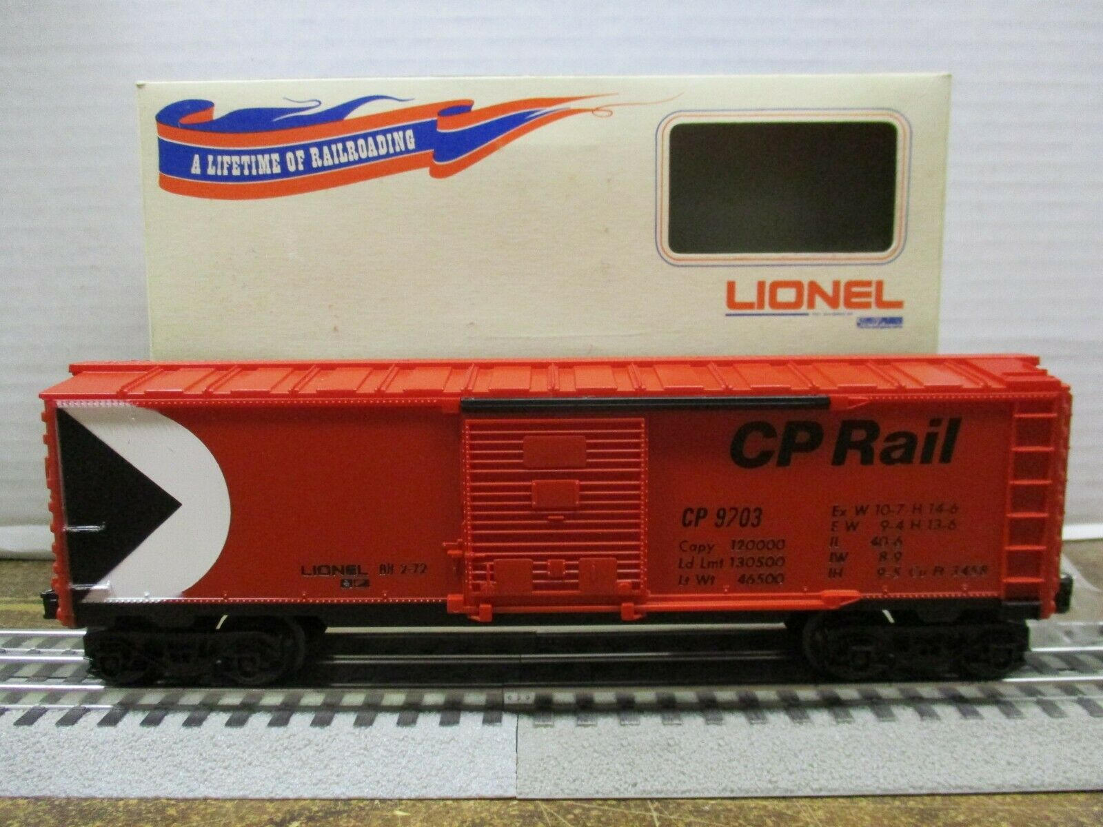 Coche Lionel  9703 Cp Rail Caja En Caja Original 1972