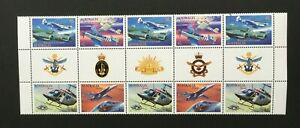 1996-Australia-Military-Aviation-SG-1578-81-gutter-10-mnh-with-all-insignia-039-s
