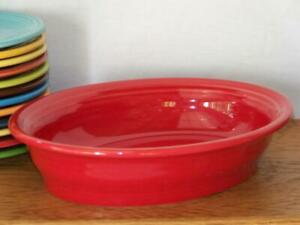 Fiesta-SCARLET-Small-Oval-Bowl-Vegetable-Bowl