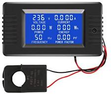 Ac Current Voltage Amperage Power Energy Panel Meter Lcd Digital Display Ammeter