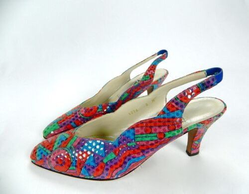 da in alti tribali Made 8 vintage Spagna Harris High donna multicolore Tacchi vintage YUqwdvU
