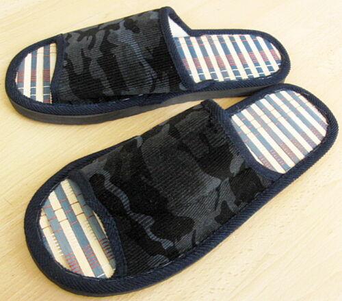Bamboo Slippers Men Comfy Light Footwear Velvet