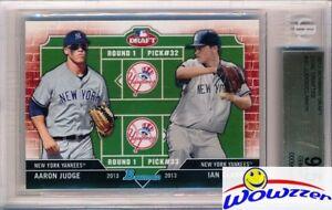 2013 Bowman Draft #DD-JC Aaron Judge/Ian Clarkin Rookie BGS 9.5 GEM MINT Yankees