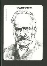 Victor Hugo French Novelist Poet Les Miserables 1989 Face 'Em Collector Card