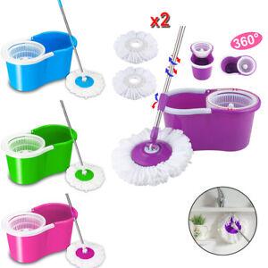 360-Rotating-Head-Easy-Magic-Floor-Mop-Bucket-Head-Microfiber-Spinning-Cleaner