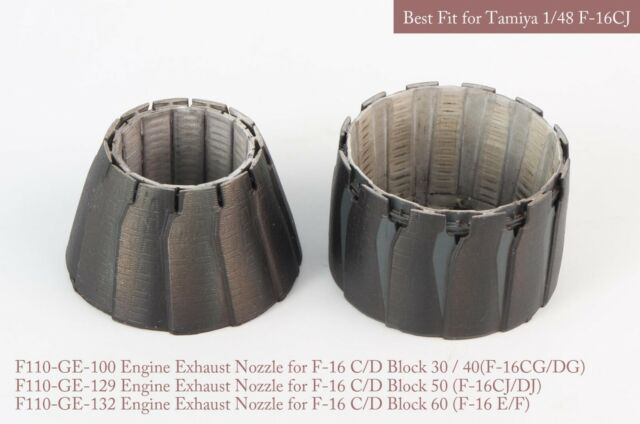 MA-48062 1/48 F-16 C/D Block 30/40/50/60 EXHAUST NOZZLE SET (O+C) for  hasegawa