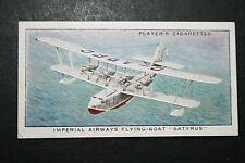 Imperial Airways  SATYRUS Short Flying Boat  1930's  Vintage Card # VGC