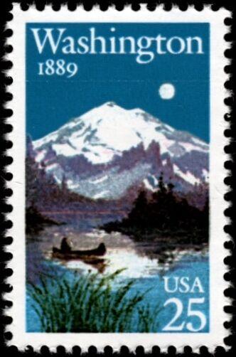 1989 25c Washington State, 100th Anniversary Scott 2404