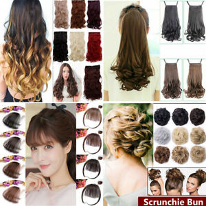 Women-Clip-In-Ponytail-Pony-Tail-Hair-Extension-Claw-On-Hair-Piece-curly-wavy
