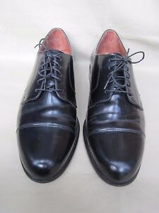 Bostonian Mens Shoes 10 1/2M  Black Leather Formal Classics First Flex Lace-ups