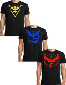 Pokemon Go Team Valor Team Mystic Team Instinct T Shirt S