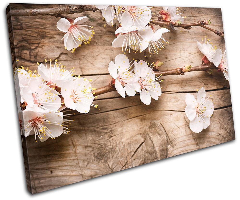 Cherry Blossom Blossom Blossom rosa Floral SINGLE TELA parete arte foto stampa 9a655f
