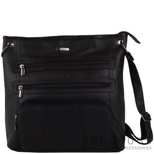 836434bf19b Image is loading Ladies-Womens-Large-Soft-Leather-Handbag-Shoulder-Cross-
