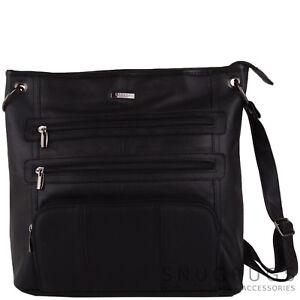 Image Is Loading Las Womens Large Soft Leather Handbag Shoulder Cross